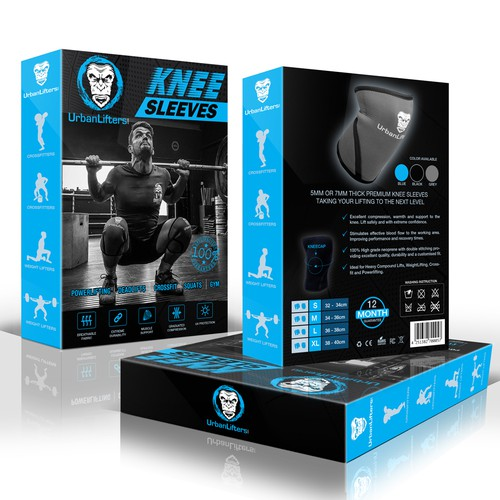 Product Package for Knee Sleeves