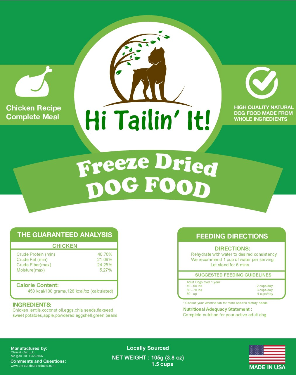 Freeze Dried Dog Food for dogs on the Go!