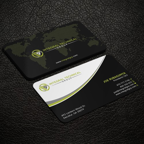 Business card design  for Integral Technical
