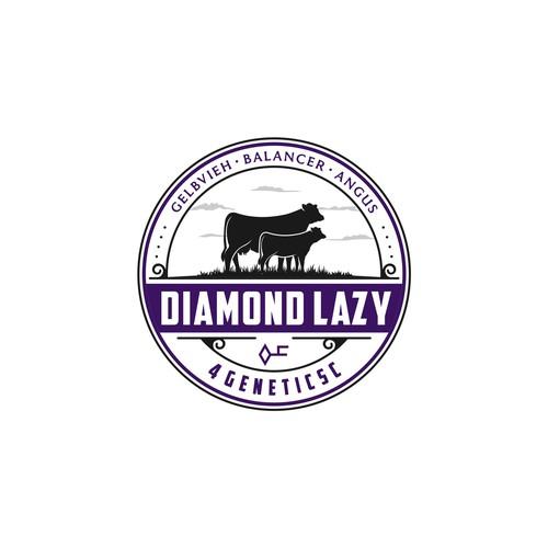 Dairy Cows Logo Concept