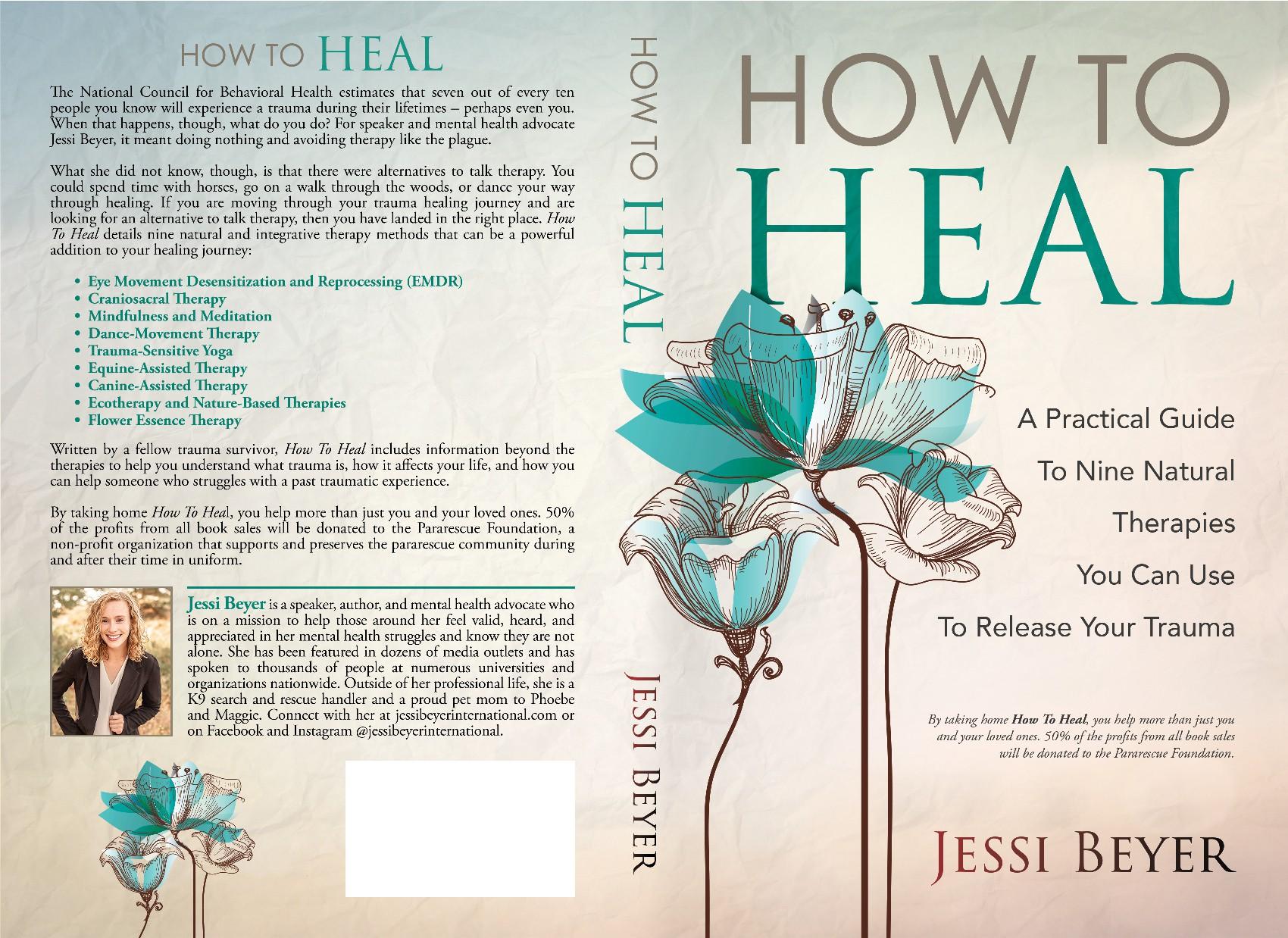 Design a cover for mental health/PTSD healing book