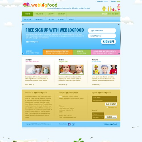 Website Design for We Blog Food