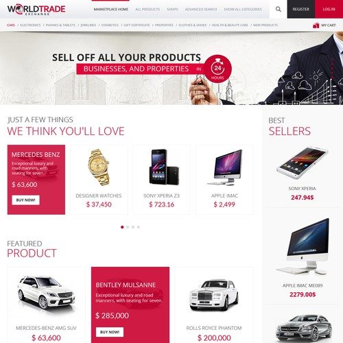 Design A World Class Ecommerce Marketplace Website. OPEN TO ALL DESIGNERS!!!