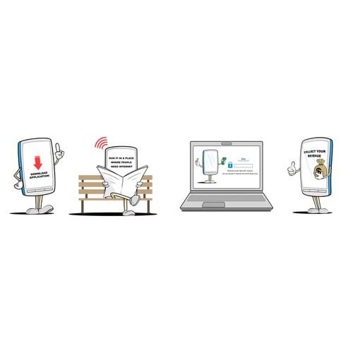 Illustration for a hotspot App