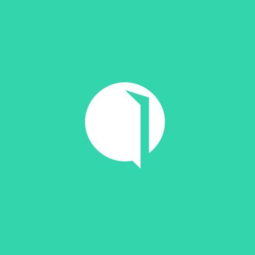Minimal logo for Opendoor