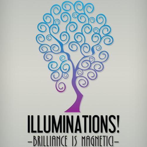 Logo design concept for Illuminations.