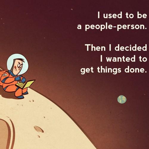 Life of an Entrepreneur Cartoon - Get Things Done