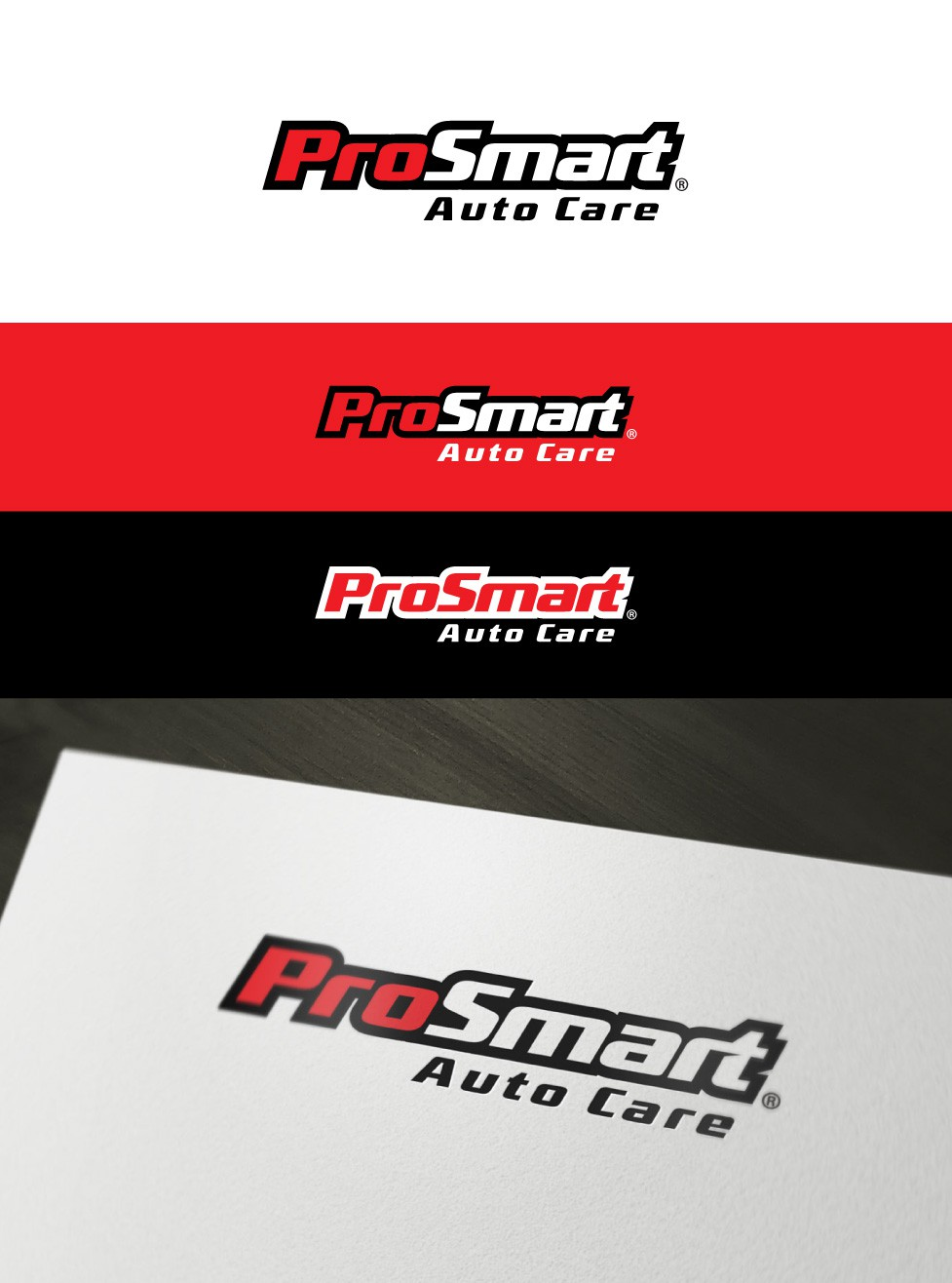 Create the next logo for ProSmart Auto Care