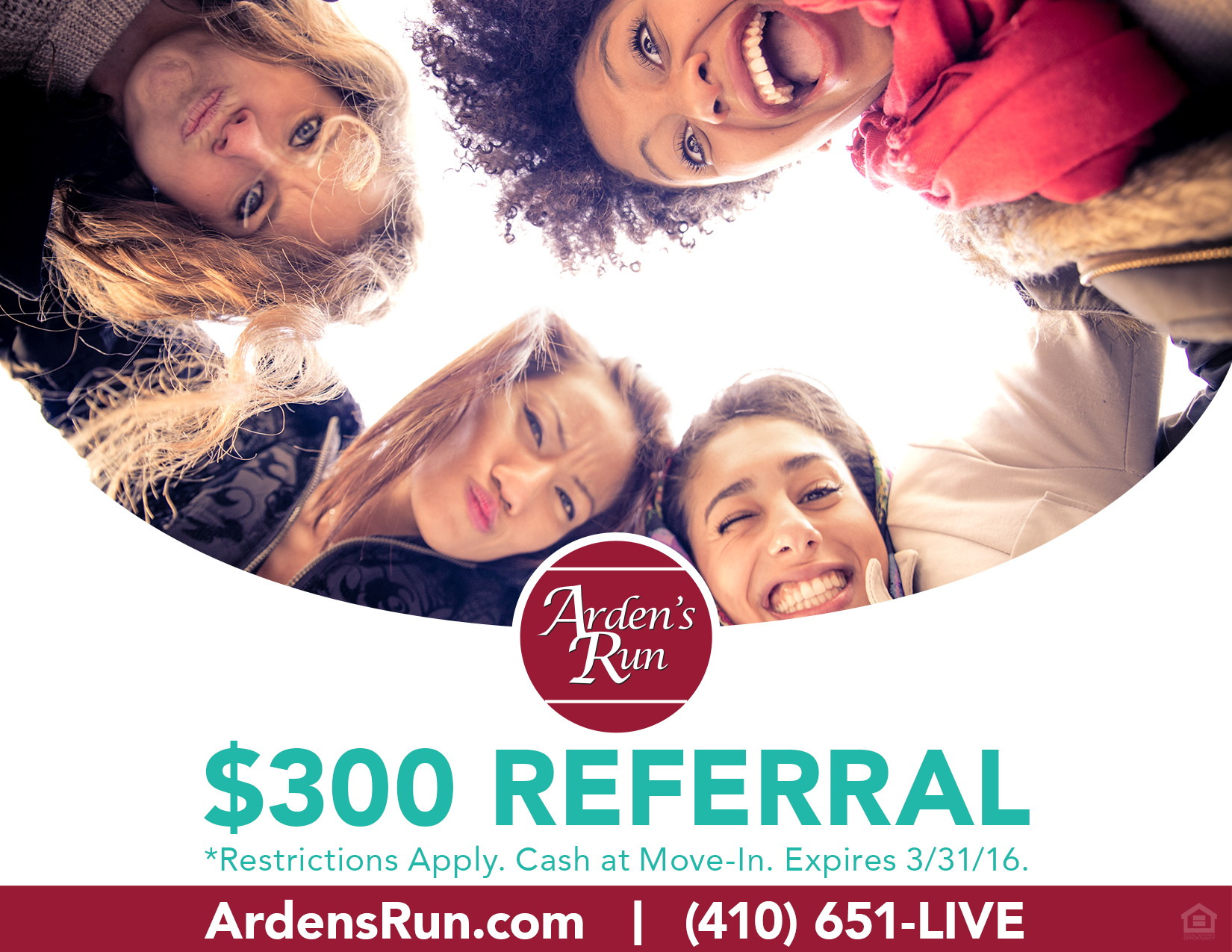 Arden's Run $500 Off  and Referral; $300