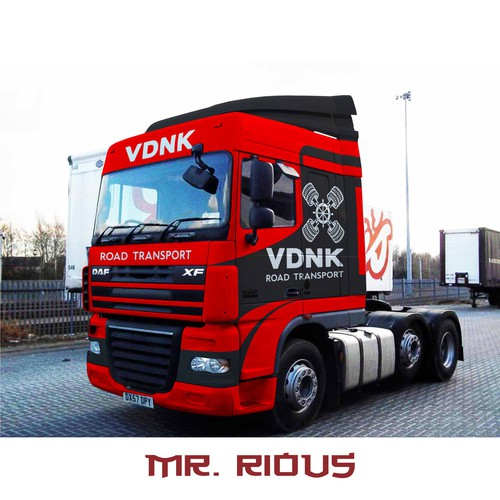 vehicle wrap DAF trucks