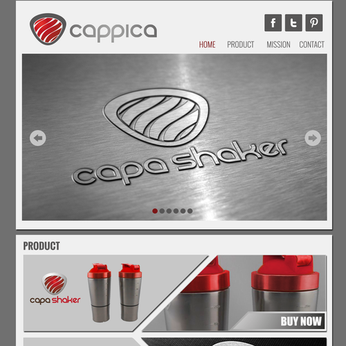 Create Cappica Inc. home page and style for site.