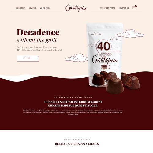 Chocolate Truffles One Page Website