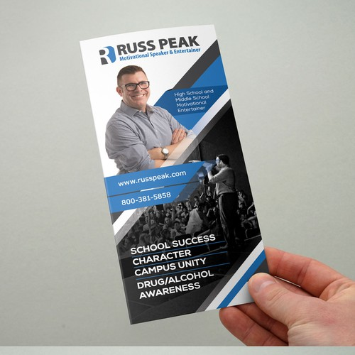 TRI-FOLD Brochure for TOP Motivational Entertainer