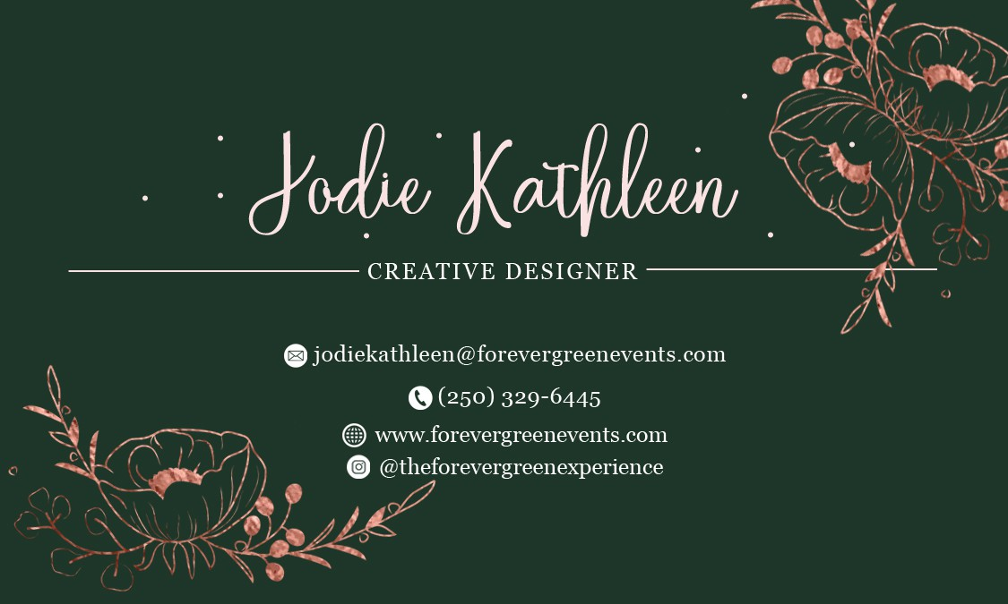 Forever Green Events - Business Cards
