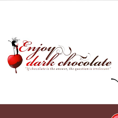 Create the next logo and business card for Enjoy dark chocolate
