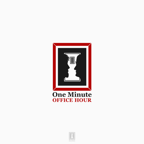 ONE MINUTE OFFICE HOUR logo concept.