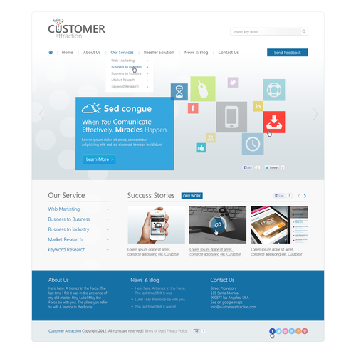 Help Customer Attraction with a new website design