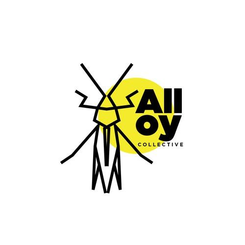 Minimalistic logo for Alloyconcept