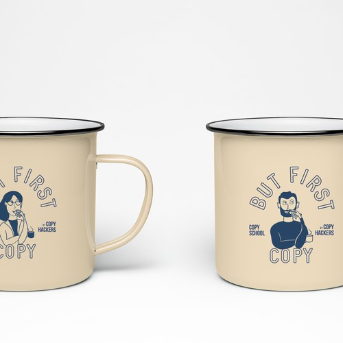 Coffee Mug for Copy Hackers, an online copywriting business