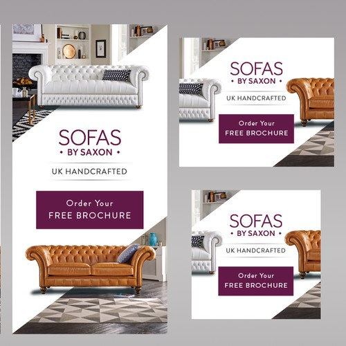 Banner set design for Sofas by Saxon