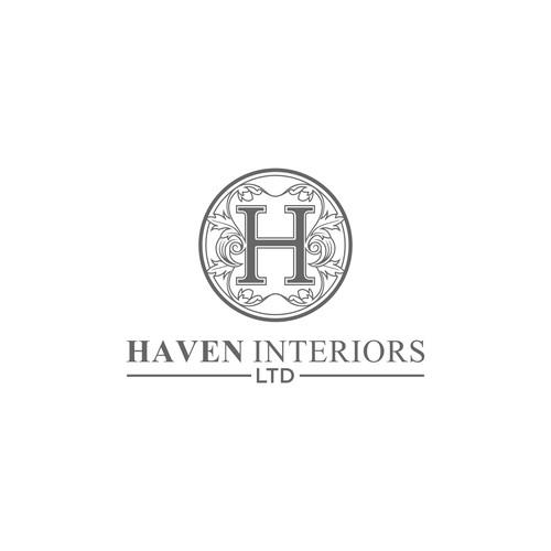 Elegan and lux logo concept for haven interiors ltd