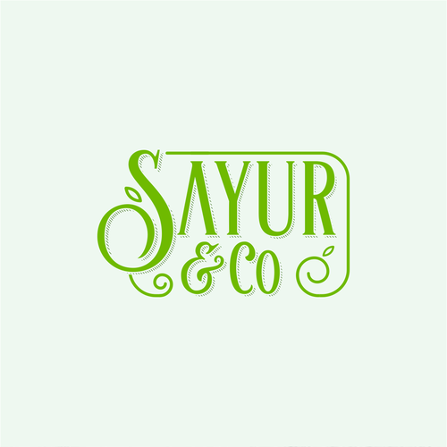 Floral Elegant Logo For Sayur & Co.