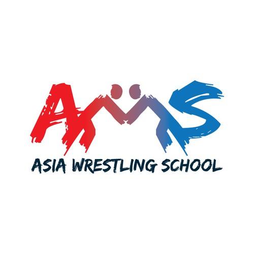 Asia Wrestling School Logo
