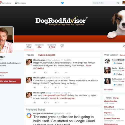 Twitter header/cover design