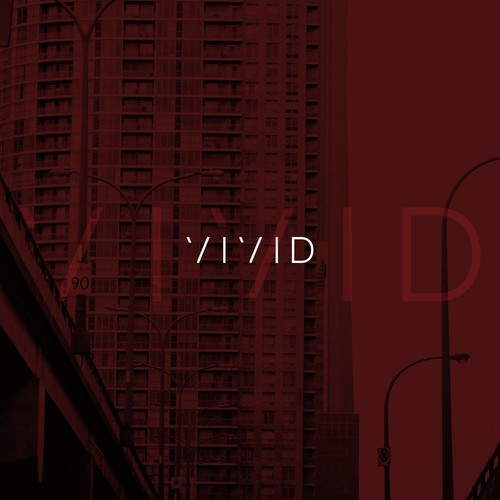 Finalist for VIVID digital company minimalist logo