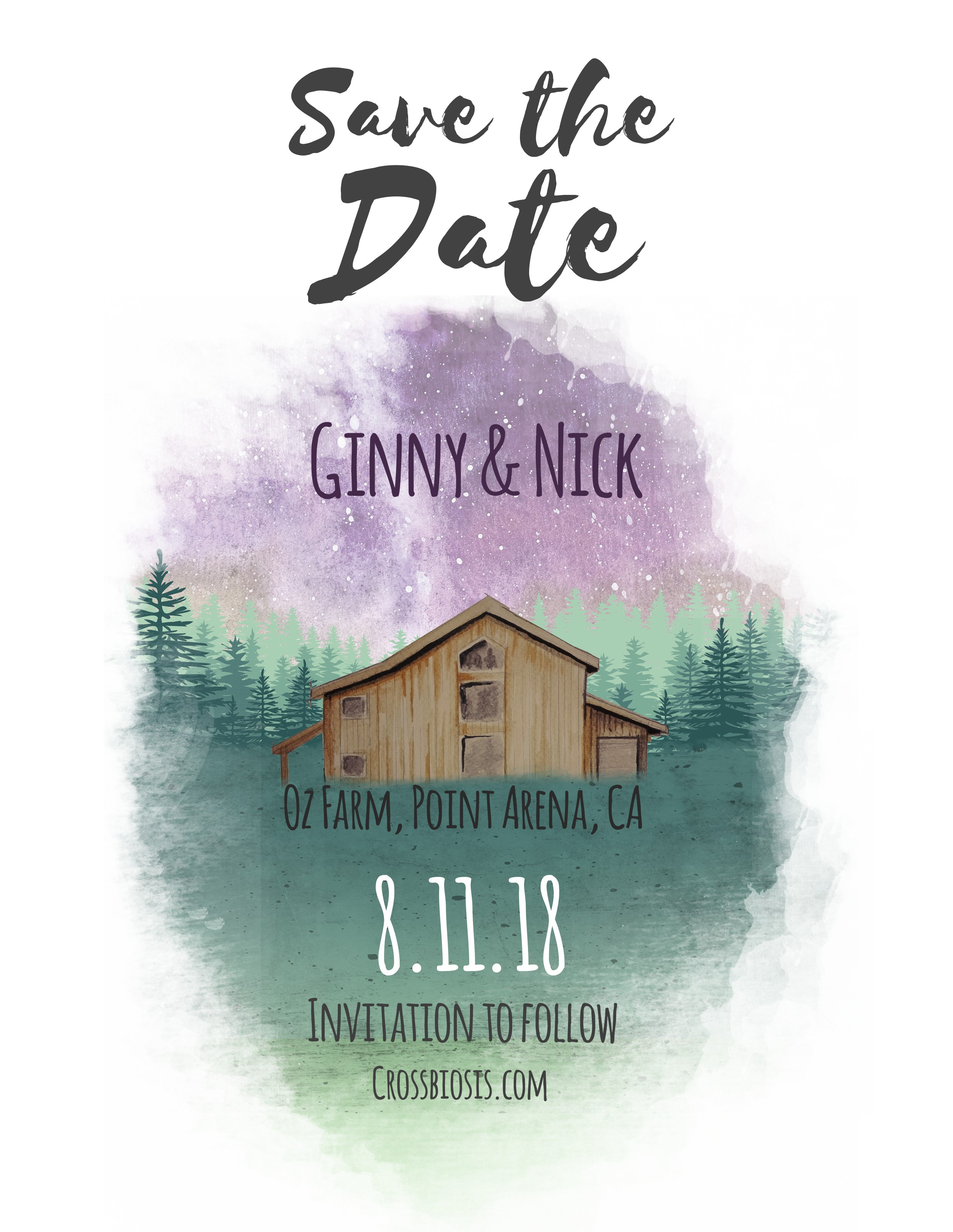 Design an invitation for our Festival Wedding - Crossbiosis