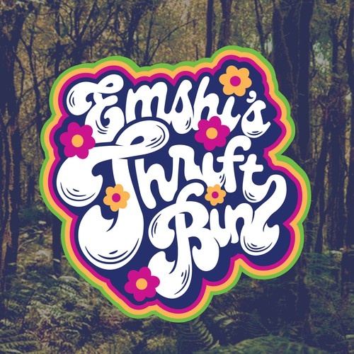 Hippie logo for  online thrift shop