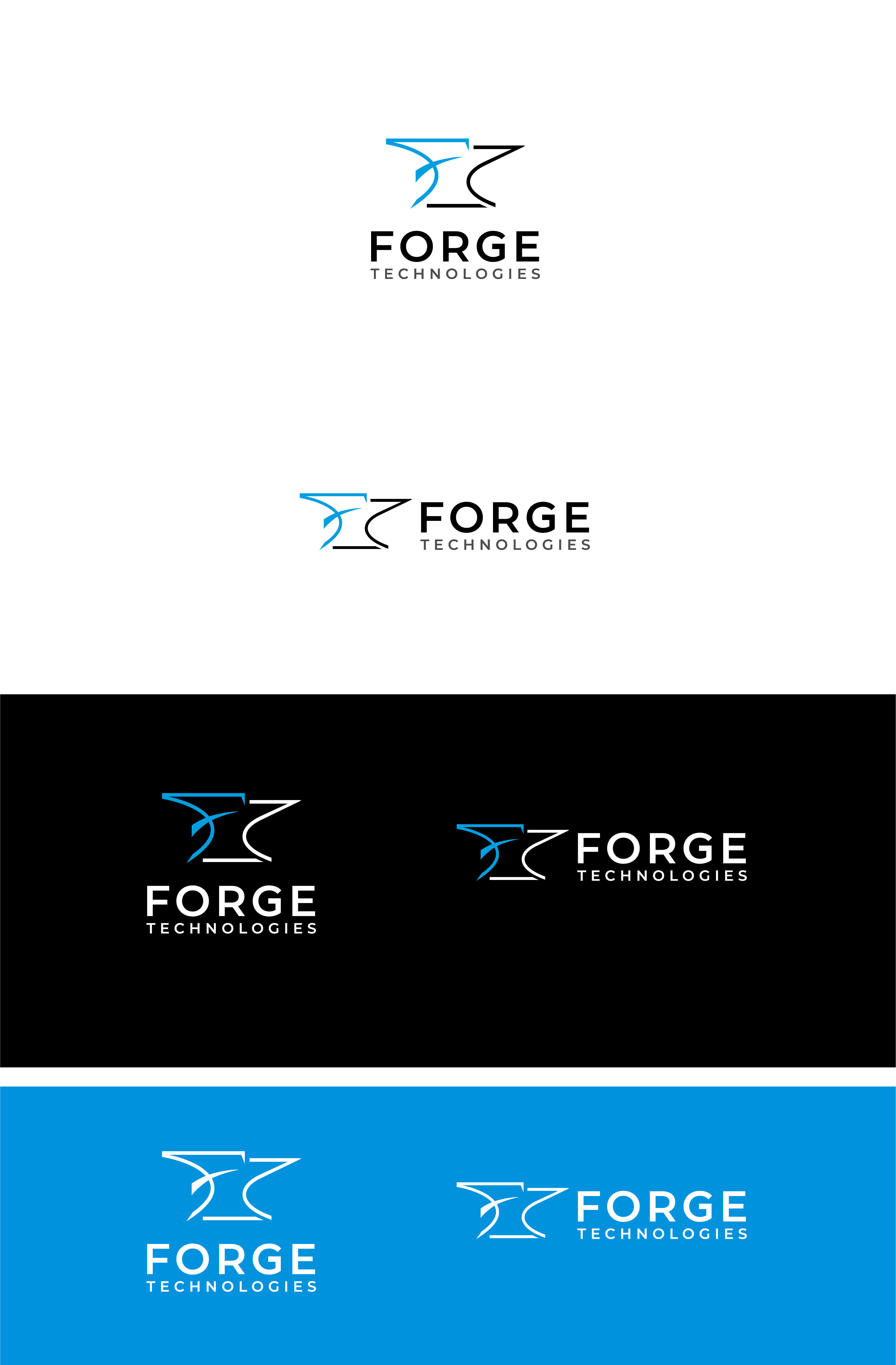 Powerful and professional logo for a disruptive tech startup called Forge Technologies Ltd.
