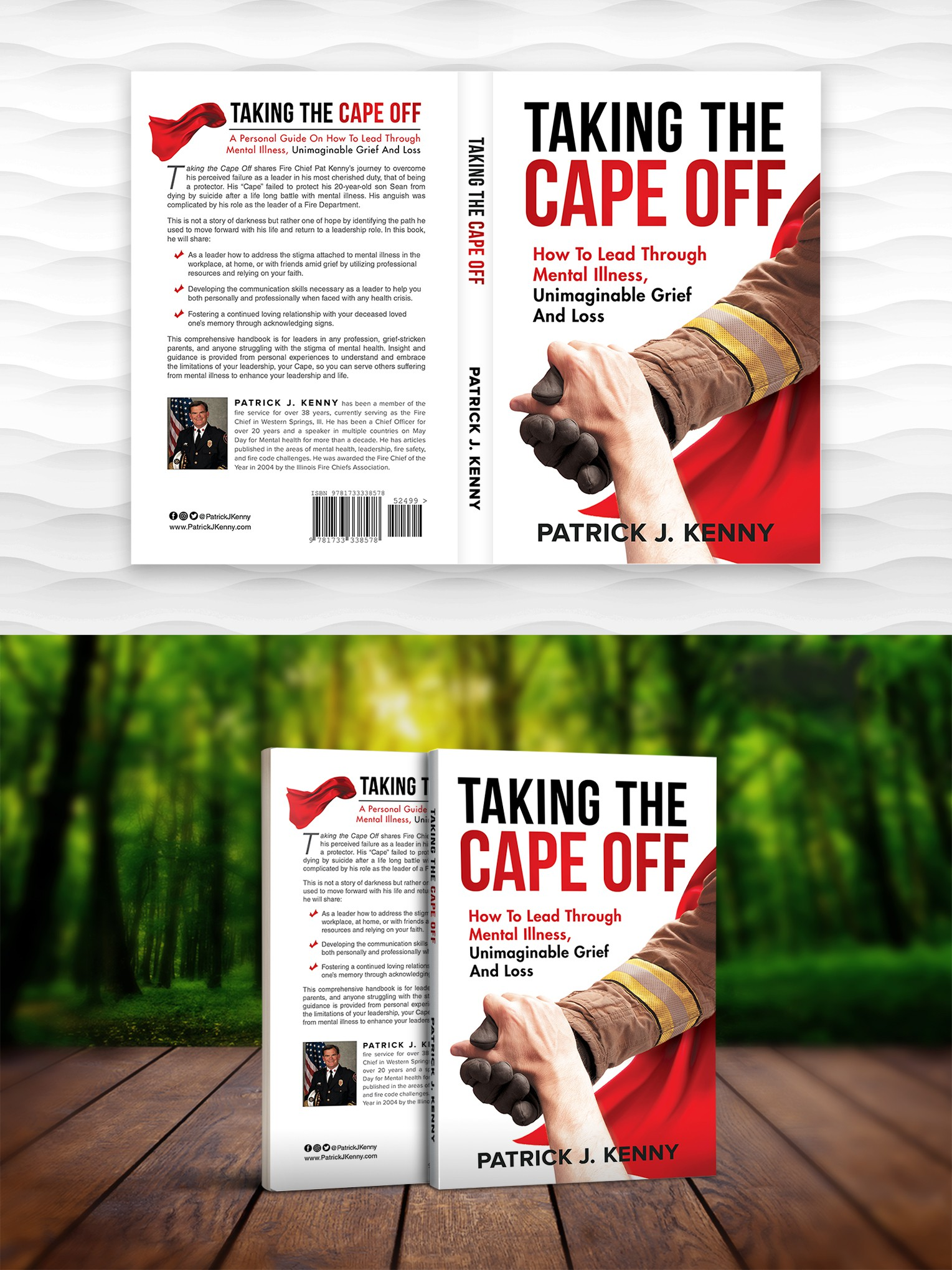 """Simple, clean, captivating leadership business paperback/ebook cover for """"Taking The Cape Off"""""""