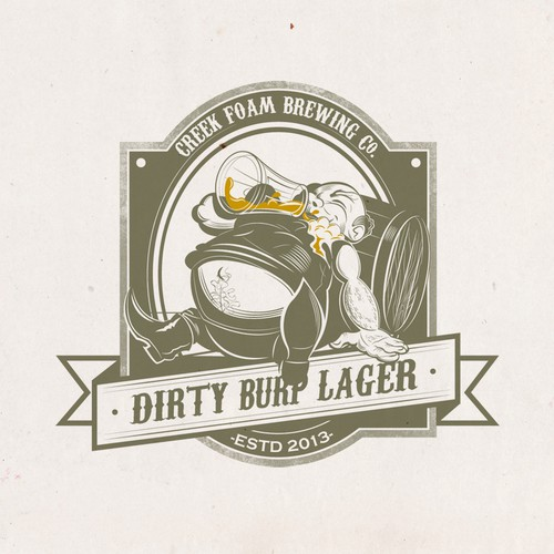 Dirty Burp Lager and  Creek Foam Ale need a new logo