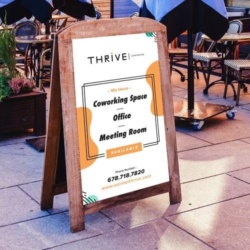 Sandwich Board Design Concept For Thrive