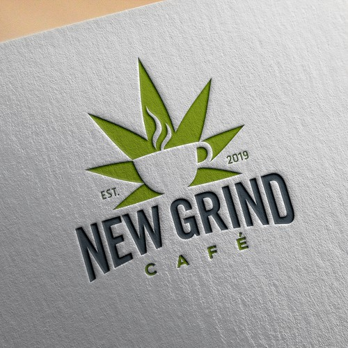 Logo concept for cafe selling CBD infused coffee