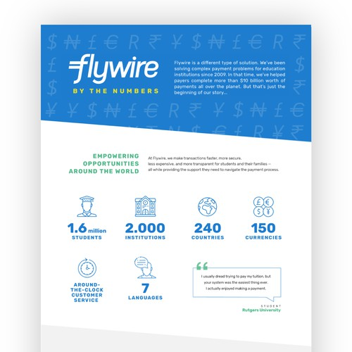 Infographic Flywire