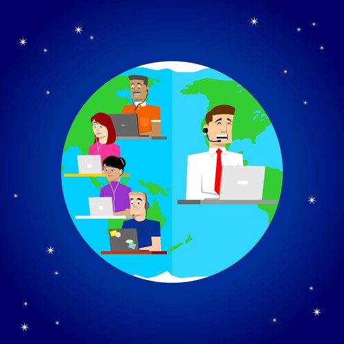 Graphic for online education company