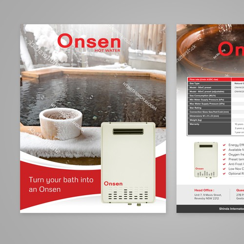 Flyer for Onsen Hot Water