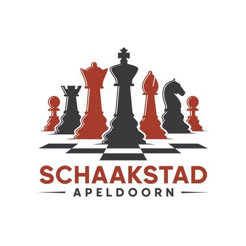 Schaakstad Apeldoorn logo design