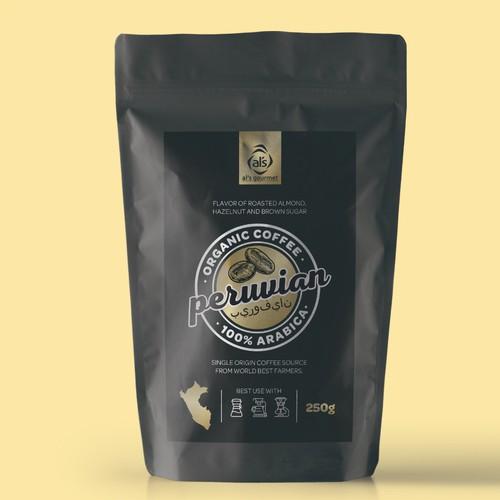 Organica coffee packaging