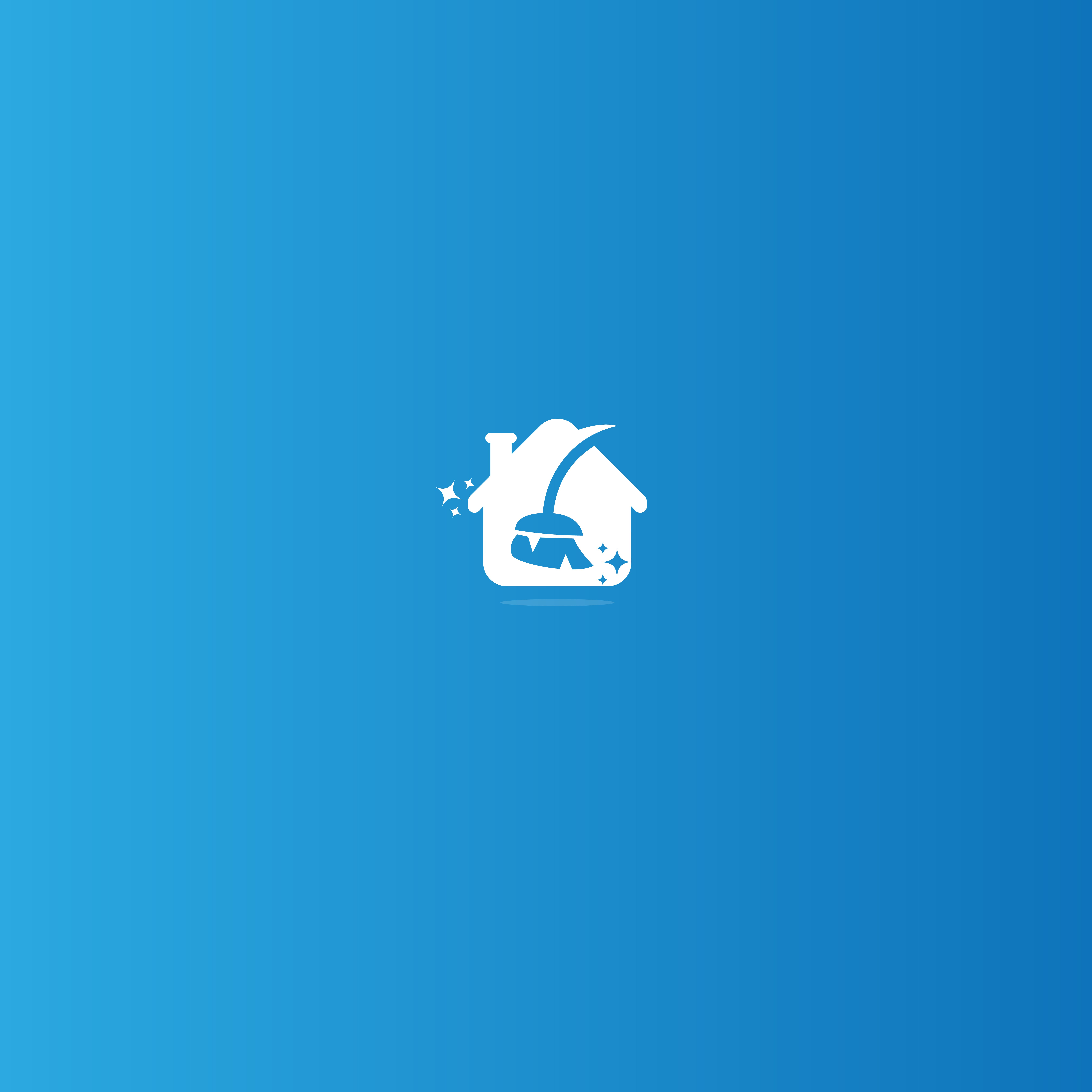Design a friendly yet modern and professional logo for a house cleaning business.