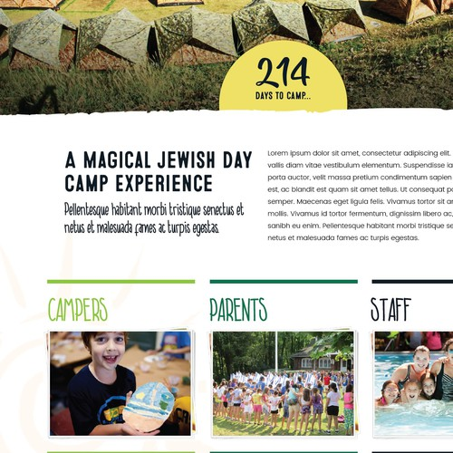 Camp website design concept