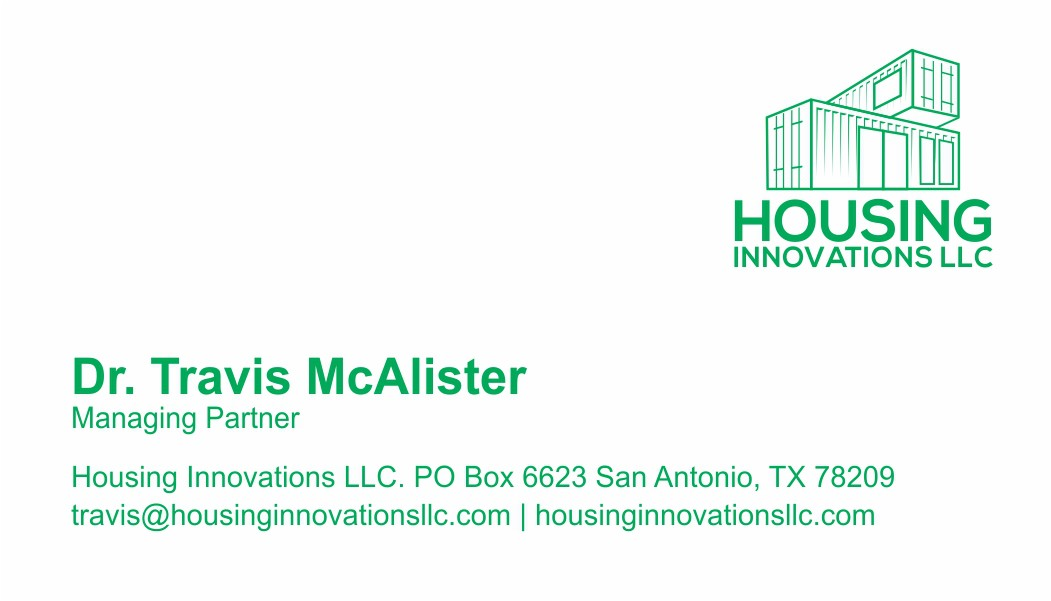 business card of the Housing Innovations