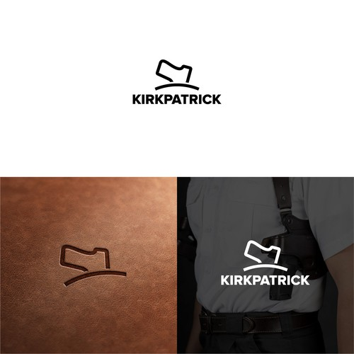 Classy Logo for Gun Holsters Manufacturer.