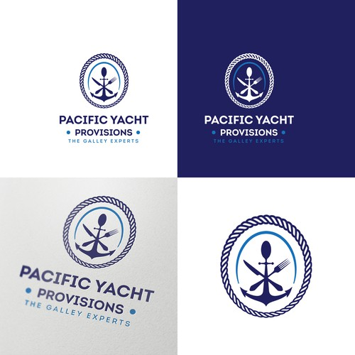 Logo concept for yacht-related catering service