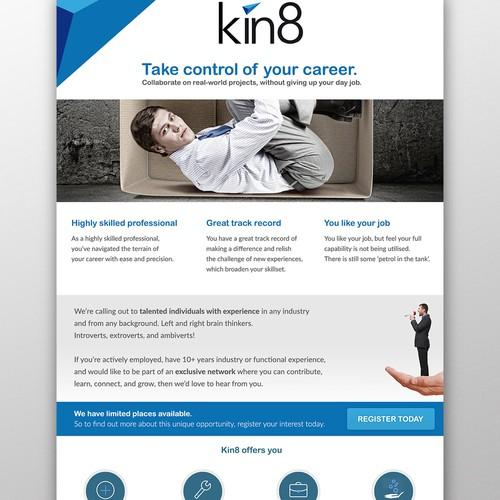 Kin8 flyer design