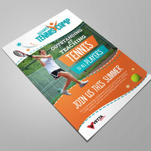 Design tennis camp flyer