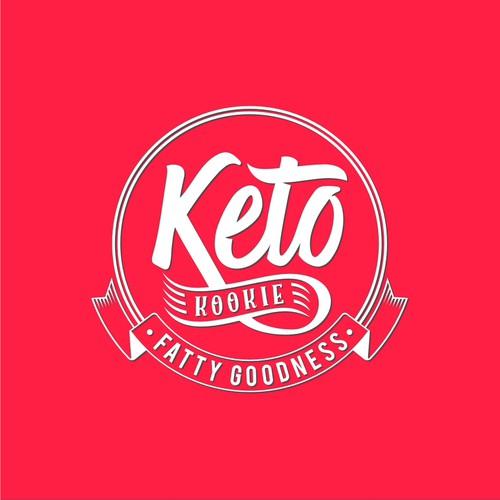 Vintage Artistic Logo for Keto Kookie
