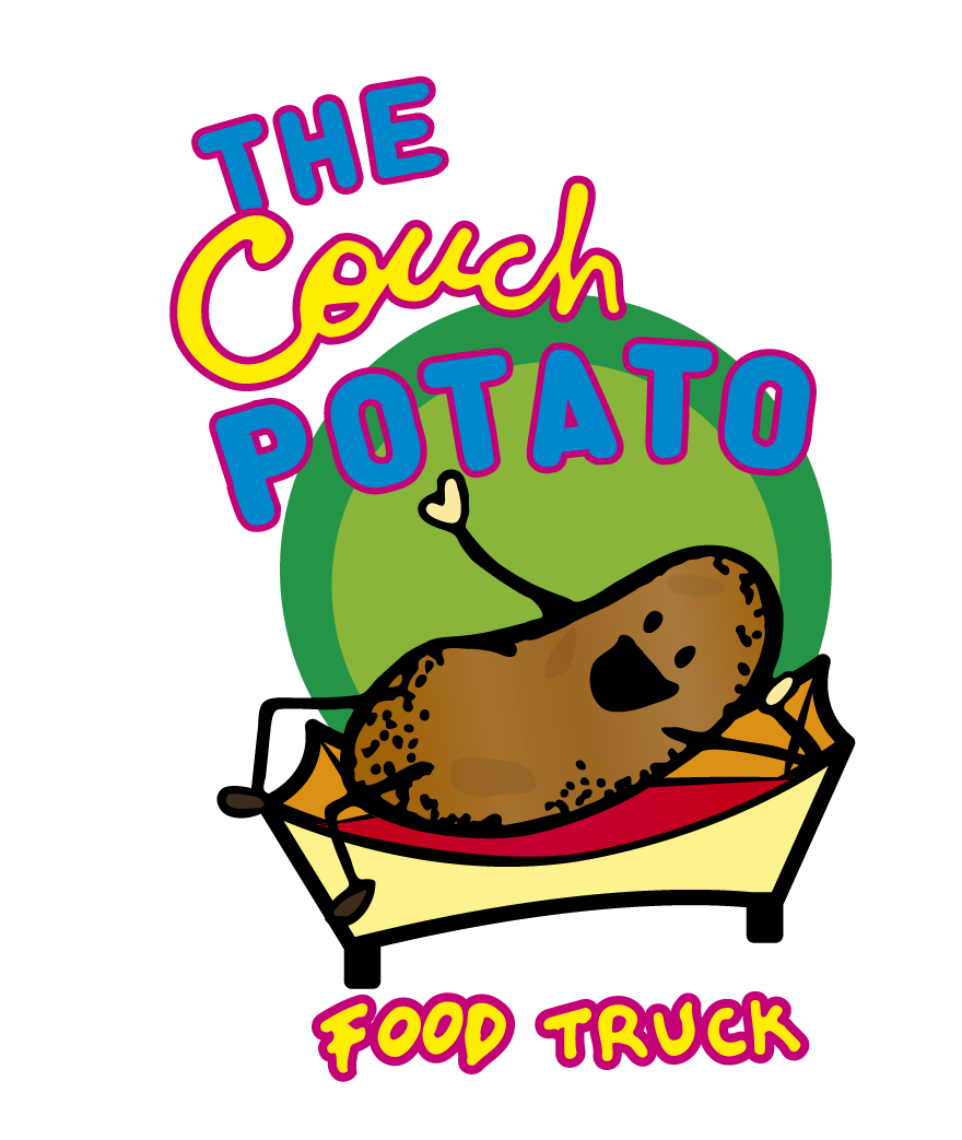 Design a wavy logo for a Munchies Food Truck. The Couch Potato!